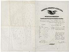 Passport signed by James G. Blaine as Secretary of State, granting passage and