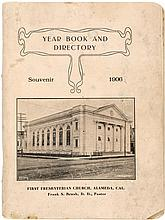 Year Book and Directory, Souvenir 1906. First Presbyterian Church, Alameda, Cal.