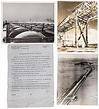 Collection of approximately 75 vintage photographs of the construction of the San Francisco Bay Bridge