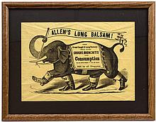 Advertising Broadside for Allen's Lung Balsam