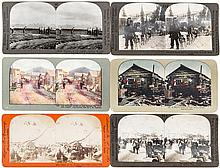 Seven stereopticon slides of mining in Alaska