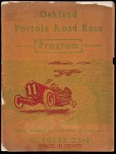 Oakland Portola Automobile Road Race Under the Auspices of the Automobile Club of California - program