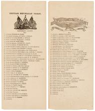Two Democratic and Republican political ?Tickets? for the Gubernatorial Election of 1882