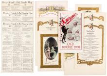 Group of menus and ephemera from Bergez-Frank's Old Poodle Dog restaurant