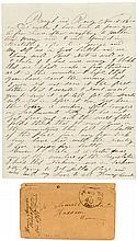 Autograph Letter Signed - 1850 ?Rough and Ready? Miner on future Supreme Court Justice Stephen Field