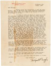 Typed Letter Signed - 1924 Killing a bear in a mining camp