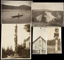 Five original photographs of Alaska Native Americans