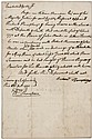Autograph Document signed by William Thompson as Justice of Cumberland County, Pennsylvania