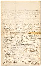 1875 Document pledging funds for the Deaf, Dumb and Blind Institution signed by Leland Stanford, William Ralston, and many other prominent Californians