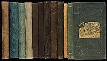 Eleven issues of the Boston Almanac, 1838-1867