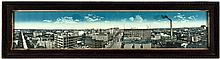 Color photolithographic panorama view of Winnipeg, Manitoba, Canada