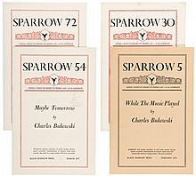 Sparrow [magazine] featuring Charles Bukowski - 4 issues
