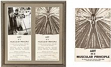 Art as a Muscular Principle: 10 Artists and San Francisco 1950-1965 - book plus pair of framed invitations to the opening of the show