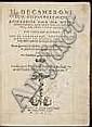 Boccaccio, Giovanni. Il Decamerone. [12], 487, [1