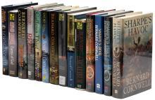 Fourteen novels by Bernard Cornwell, including four signed