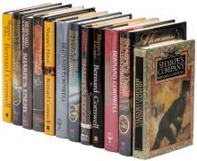 Twelve Richard Sharpe novels - three signed