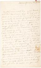 Autograph Letter Signed from poet Anne Vardill Niven to novelist Mary Russell Mitford
