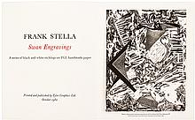 Two lithographs and a color print by Motherwell, Hockney and Stella