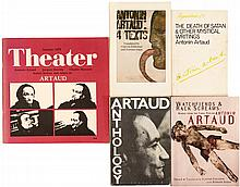 Five volumes of works by Antonin Artaud