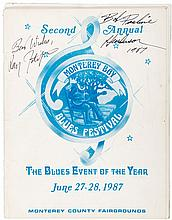 Program for the Second Annual Monterey Bay Blues Festival, June 27-28, 1987 in Seaside, California - signed by several musicians