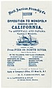 Advertising flier for the North American Steamship Co.