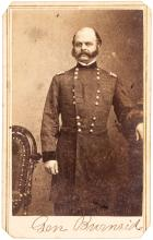 Carte-de-visite photograph of Union General Ambrose Burnside