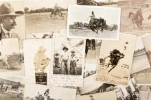 Sixty-seven post cards, mostly of the rodeo in Montana, Wyoming, Colorad, etc.