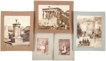 Approximately 30 original albumen photographs of Greece, is scenery, people and archeological ruins