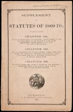 Supplement to Statutes of 1869-70 - Establishing New Montgomery street in San Francisco