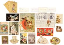 Large collection of American Trade Cards