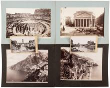 Approximatly 115 original albumen photographs of people, scenery, architecture and archeological ruins of Italy