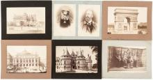Approximately 85 original albumen photographs of France