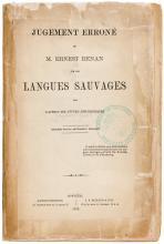 Jugement errone de M. Ernest Renan sur les Langues Sauvages