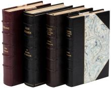 Four works by Irving Bacheller, finely bound at the Roycroft bindery