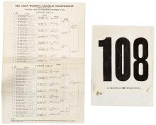 Archive of golf score cards, programs, pairing sheets, newspaper clippings, and more recording the career of Bay Area golfer Mrs. S.J. Anink (Jean Anink)