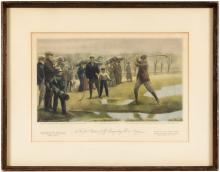 The First Amateur Golf Championship in America - color print