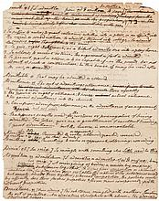 Autograph manuscript fragment, single leaf written in ink on both sides, with definitions of about ten words, from Webster's American Dictionary, Admit to Admonish