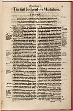 The first [seconde] booke of the Machabees - from the 1574 folio edition of the Bishops' Bible