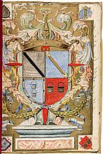 Seventeenth Century Chilean manuscript Coat of Arms in Spanish