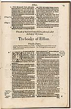 Five books from an early folio edition of the Bishops' Bible, 1574