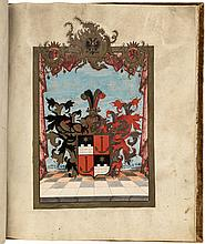 Coat of Arms Folio Manuscript on vellum, signed by Maria Theresa
