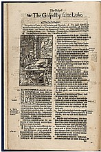 The Gospel by Saint Marke [&] The Gospel by saint Luke - from the third folio edition of the Bishops' Bible