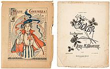 Collection of sheet music, including some manuscript
