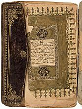 Koran (in Arabic) with hand-gilded borders and decoration