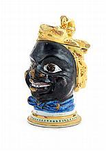 Caixa para tabaco em forma de cabeça de preta