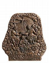 Coroação de N. Sra., retábulo em madeira, séc XVII