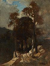 Narcisse Diaz, Óleo sobre cartão, 42 x 32,5 cm.