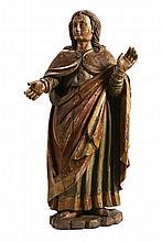 São João figura de calvário, escultura do séc.XVII