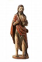Importante escultura de São João Baptista