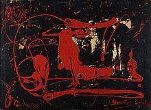 Autor não identifi, Óleo s/aglomerado, 54 x 73 cm.